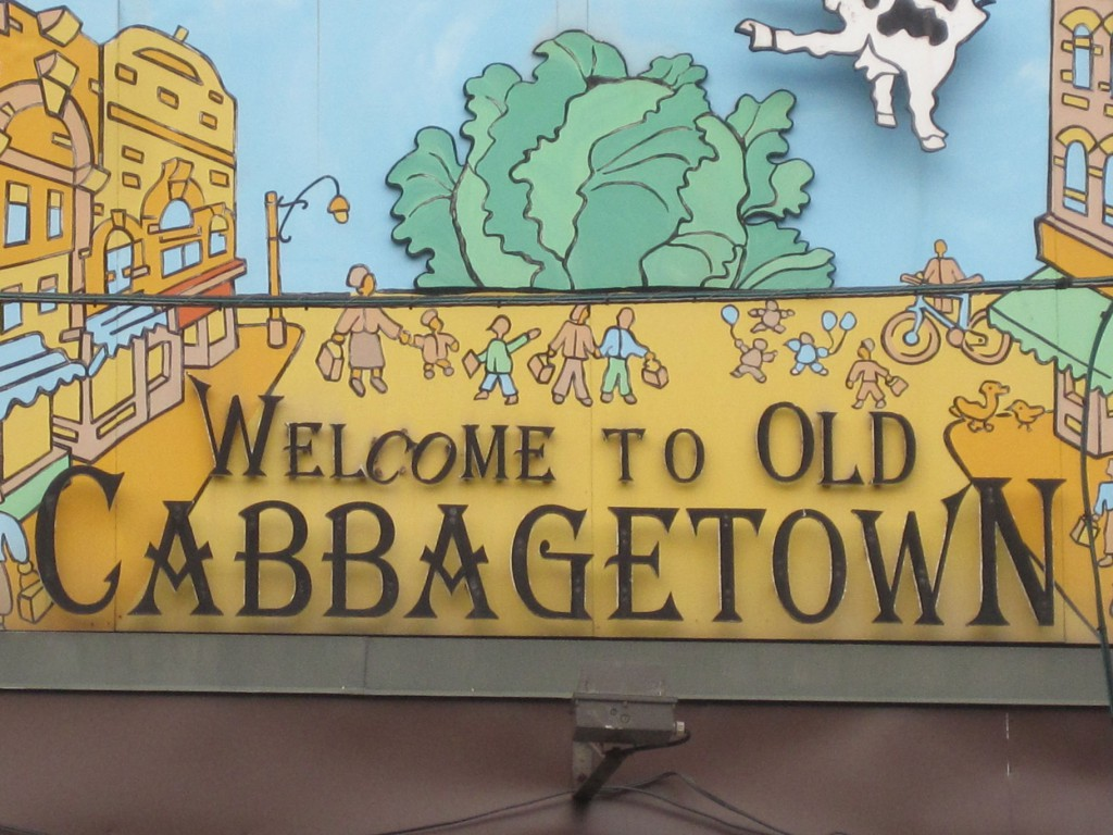 Cabbage Town Sign